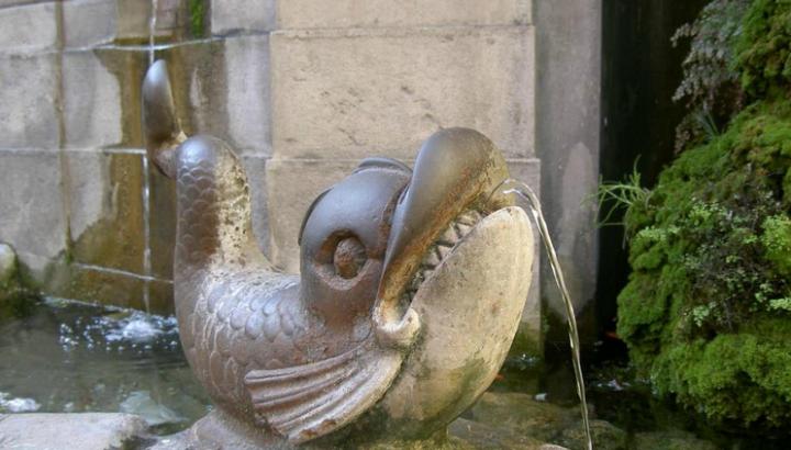 Particolare della Fontana dei Pesci